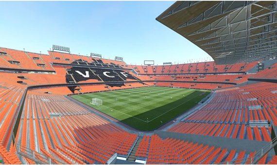 El estadio del Mestalla, al detalle en la visita.